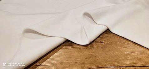 Textil - Flis - cena za 10 cm (Biela) - 13805958_