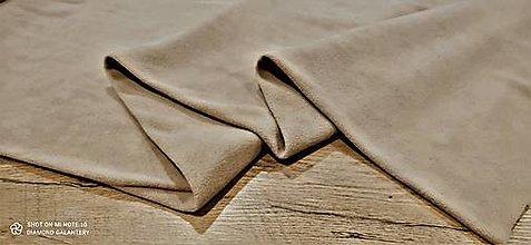 Textil - Flis - cena za 10 cm (Béžová) - 13805963_