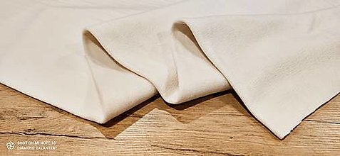 Textil - Flis - cena za 10 cm (Krémová) - 13805964_