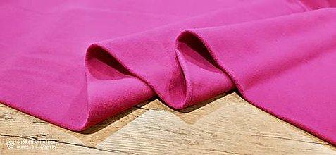 Textil - Flis - cena za 10 cm (Fuchsia) - 13805971_