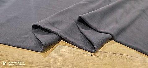Textil - Flis - cena za 10 cm (Šedá) - 13805972_