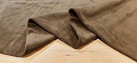 Textil - Flis - cena za 10 cm (Hnedá) - 13805987_