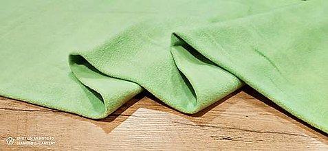 Textil - Flis - cena za 10 cm (Jablčkovozelená) - 13805989_