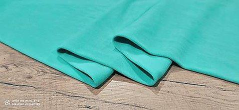 Textil - Flis - cena za 10 cm (Tyrkysová) - 13805990_