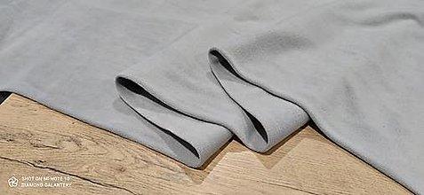 Textil - Flis - cena za 10 cm (Svetlá šedá) - 13805991_