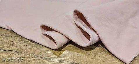 Textil - Flis - cena za 10 cm (Ružová) - 13805993_