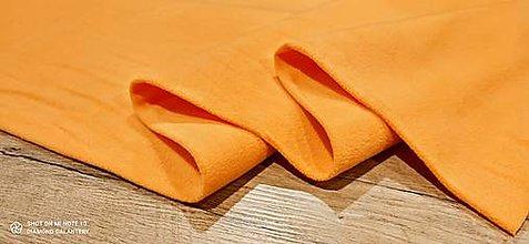 Textil - Flis - cena za 10 cm (Oranžová) - 13805998_