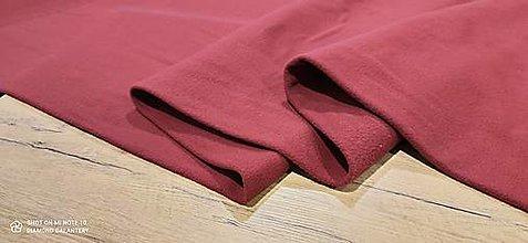 Textil - Flis - cena za 10 cm (Bordová) - 13806000_