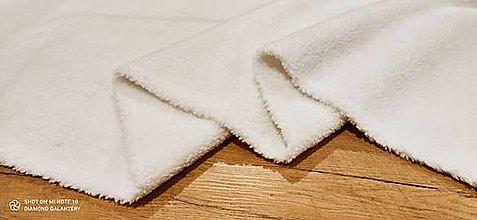 Textil - Látka Baranček - Sherpa (Biela) - 13806409_