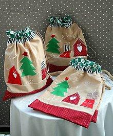 Úžitkový textil - Vianoce. Mikulášské a vianočné vrecko - 13806415_