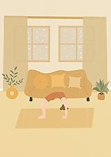 """Grafika - Ilustrácia """" Hygge Yoga III."""" - 13807065_"""