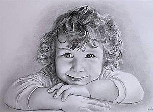 Kresby - Rozkošné dievčatko - 13807142_