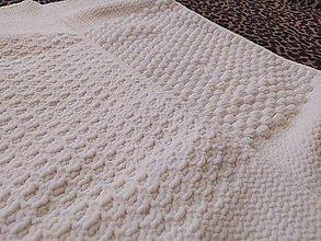 Textil - Smotanovobiela deka s ovečkou - 13807077_