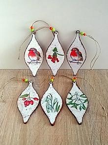 Dekorácie - vianočné ozdoby kvapky - 13805532_