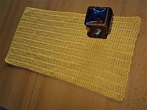 Úžitkový textil - Háčkovaná dečka obdĺžníková 4 žltá - 13808286_