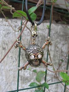 Náhrdelníky - Lebka - náhrdelník - 13806518_