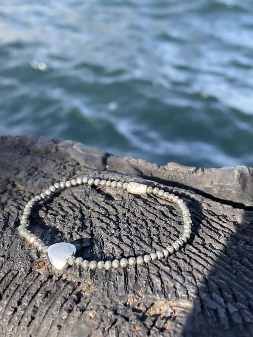 Pyritový náramok Srdce