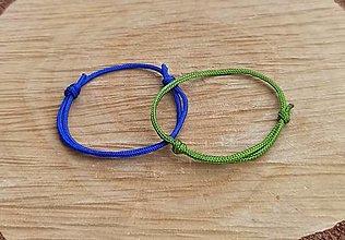 Náramky - Náramok modrý alebo zelený na želanie použitá nylonová  šnúrka  vyrobím farebne podľa želanie  cena je za 1 ks - 13810651_
