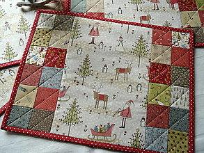 Úžitkový textil - Winter Wonderland... prestieranie  sada 4ks - 13810707_