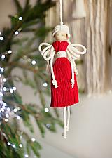 """Dekorácie - vianočný makramé """"Anjel"""" - 13812433_"""