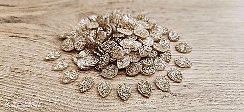 Komponenty - Ozdobné kamienky 10 x 14 mm (Zlaté) - 13809059_