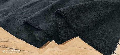 Textil - Látka Baranček - Sherpa (Čierna) - 13809131_