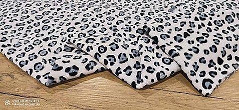 Textil - Flis - Vzorovaný- cena za 10 cm (Gepard) - 13809156_