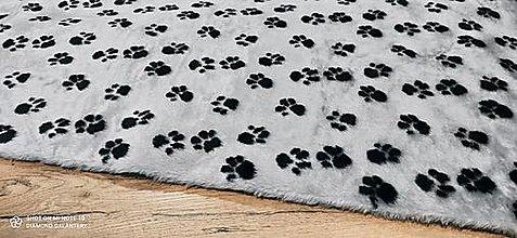 Textil - Kožušina - Labky- cena za 10 cm - 13809288_