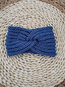 Čiapky - Čelenka modrá - 13809955_