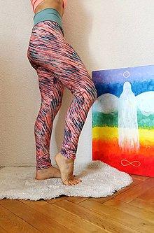 Nohavice - Legíny farebné PÁSIKY - 13809992_