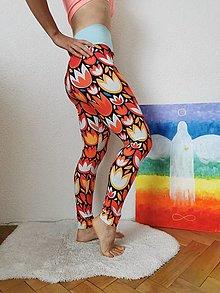 Nohavice - Legíny farebné TULIPÁNY - 13810513_