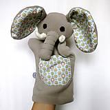 Hračky - Maňuška slon (na objednávku) - 13812850_