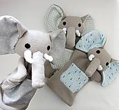 Hračky - Maňuška slon (na objednávku) - 13812855_