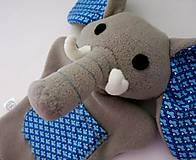 Hračky - Maňuška slon (na objednávku) - 13812870_