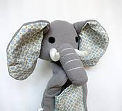 Hračky - Maňuška slon (na objednávku) - 13812871_