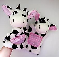 Hračky - Maňuška kravička (na objednávku) - 13812784_