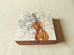 Krabičky - Drevená krabička Tóny piesne - 13809494_