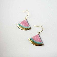 Náušnice - Tana šperky - keramika/zlato - 13811622_
