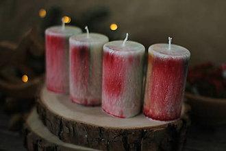 Svietidlá a sviečky - Výnimočné adventné sviečky - dúhalky - 13810992_