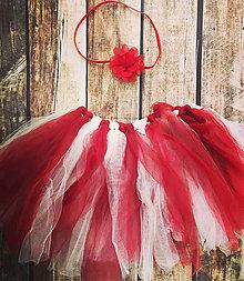 Detské oblečenie - Červená tutu suknička - 13809302_