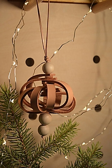 Dekorácie - Leather ornament - Ball - 13812550_