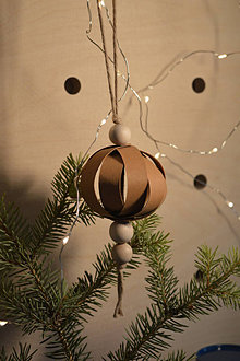 Dekorácie - Snap pap ornament -  Ball - 13812659_