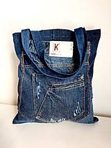 Nákupné tašky - Riflová taška - 13808774_