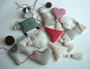 Dekorácie - Vianočné ozdoby Sada 8. - 13808756_