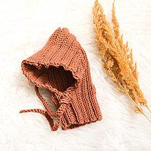Detské čiapky - .škriatkova kukla (100% merino) 9-18 mesiacov - 13808766_