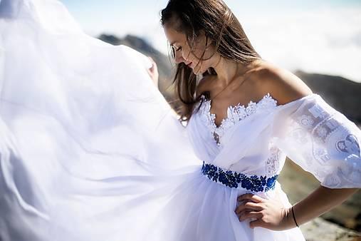 šifónové svadobné šaty Srdce z čepca