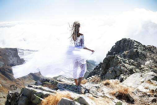 tylové svadobné šaty Srdce z čepca