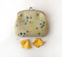 Peňaženky - Peňaženka XL Žltá s kvietkami (s kapsičkami) - 13810268_