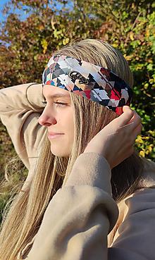 Ozdoby do vlasov - Čelenka - MOSAIC tenké termo vhodná na beh - 13812382_