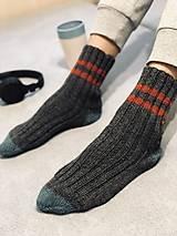 Obuv - pletené ponožky (Pánske sivé) - 13812787_
